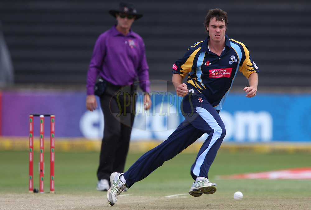 Iain Wardlaw during match 17 of the Karbonn Smart CLT20 South Africa between The Chennai Superkings and Yorkshire held at Kingsmead Park in Durban, South Africa on the 22nd October 2012..Photo by Steve Haag/SPORTZPICS/CLT20