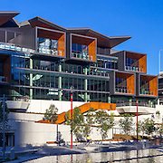 International Convention Centre Sydney (or ICC Sydney), Darling Harbour.  architects:  HASSELL + Populous.  builder:  Lend Lease