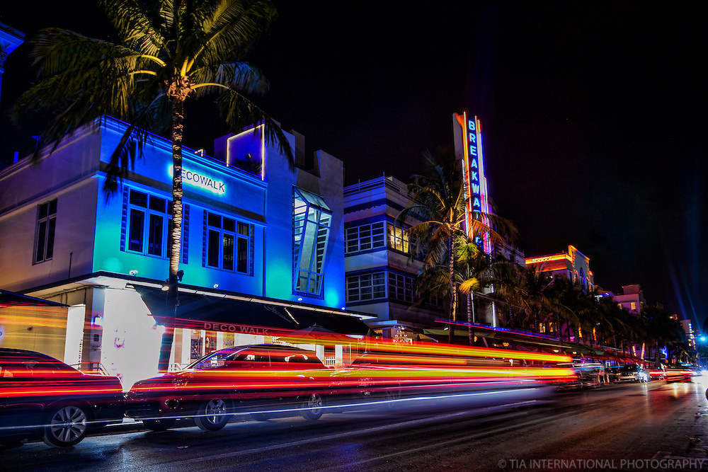 Ocean Drive featuring the Breakwater Hotel