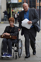 © licensed to London News Pictures. London, UK 17/06/2013. Eddy Shah (right) and his wife Jennifer attending to court in Old Bailey as the former newspaper boss denies historic rape charges relating to an underage girl. Photo credit: Tolga Akmen/LNP