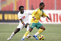 Fotball<br /> Afrika mesterskapet 2008<br /> Foto: DPPI/Digitalsport<br /> NORWAY ONLY<br /> <br /> FOOTBALL - AFRICAN CUP OF NATIONS 2008 - QUALIFYING ROUND - GROUP D - 31/01/2008 - SENEGAL v SOUTH AFRICA - TEKO MODISE (SOU) / PAPA MALICK BA (SEN)<br /> <br /> Senegal v Sør Afrika