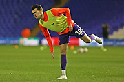Portsmouth forward John Marquis warms up before the EFL Sky Bet League 1 match between Coventry City and Portsmouth at the Trillion Trophy Stadium, Birmingham, England on 11 February 2020.