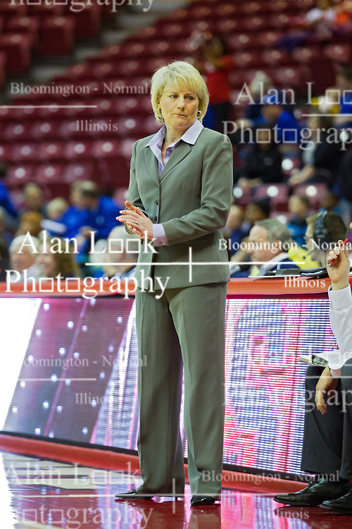 03 January 2014:  Head Coach Barb Smith during an NCAA women's basketball game between the Drake Bulldogs and the Illinois Sate Redbirds at Redbird Arena in Normal IL
