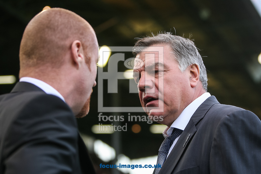 West Ham United manager Sam Allardyce and Burnley manager Sean Dyche during the Barclays Premier League match at Turf Moor, Burnley<br /> Picture by Daniel Chesterton/Focus Images Ltd +44 7966 018899<br /> 18/10/2014