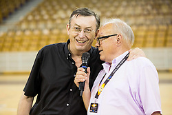 Andrej Stare and Tom Lajevec during football and basketball charity event All Legends by Olimpiki, on June 9, 2015 in Hala Tivoli, Ljubljana, Slovenia. Photo by Vid Ponikvar / Sportida
