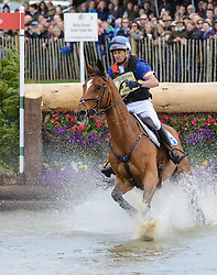 Pascal Leroy and MINOS DE PETRA - Cross Country phase, Mitsubishi Motors Badminton Horse Trials, Badminton House, Gloucestershire, United Kingdom, Saturday, 10th May 2014. Picture by Nico Morgan / i-Images