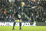 Derby County's goalkeeper Lee Grant during the Sky Bet Championship match between Derby County and Brighton and Hove Albion at the iPro Stadium, Derby, England on 12 December 2015. Photo by Shane Healey.