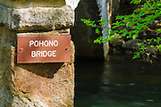 The Pohono Bridge over the Merced River, Yosemite National Park, California USA