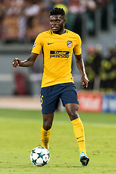 Thomas Partey of Club Atletico de Madrid during the UEFA Champions League group C match match between AS Roma and Atletico Madrid on September 12, 2017 at the Stadio Olimpico in Rome, Italy.