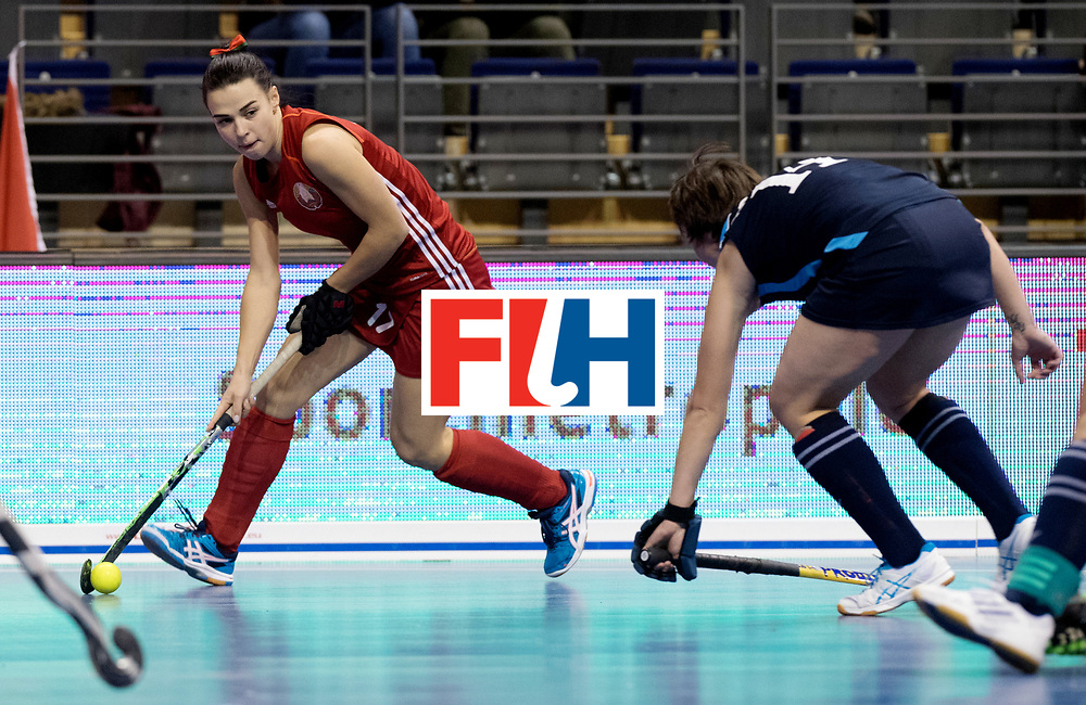 BERLIN - Indoor Hockey World Cup<br /> Women: Kazakhstan - Belarus<br /> foto: NIKITSINA Maryna<br /> WORLDSPORTPICS COPYRIGHT FRANK UIJLENBROEK