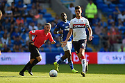Daniel Ayala (4) of Middlesbrough looking for a pass during the EFL Sky Bet Championship match between Cardiff City and Middlesbrough at the Cardiff City Stadium, Cardiff, Wales on 21 September 2019.