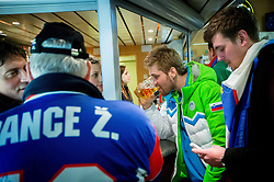 Robert Kristan at reception of Slovenia team arrived from Winter Olympic Games Sochi 2014 on February 19, 2014 at Airport Joze Pucnik, Brnik, Slovenia. Photo by Vid Ponikvar / Sportida