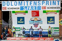 18.01.2019, Biathlonzentrum, Obertilliach, AUT, Dolomitenlauf, Dolomitensprint, im Bild v.l. Bastien Poirrier (FRA), Lorenzo Busin (ITA), Davidel Bonacorsi (ITA), Bernhard Leitinger (AUT), Michael Foettinger (AUT) // during the sprint competition of the Dolomitenlauf at the Biathlonzentrum in Obertilliach, Austria on 2019/01/18. EXPA Pictures © 2019, PhotoCredit: EXPA/ Dominik Angerer