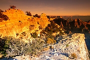 Evening light on Bright Angel Point and the Grand Canyon, North Rim, Grand Canyon National Park, Arizona