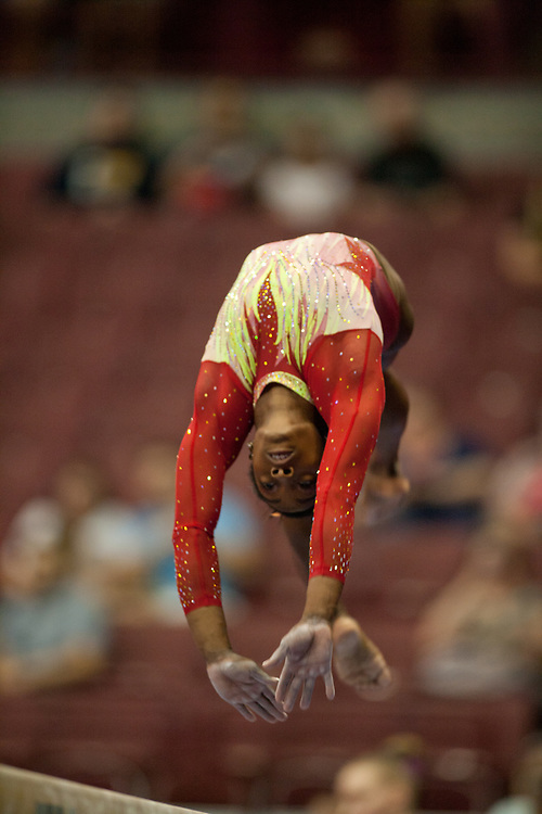 USA Gymnastics GK Classic - Schottenstein Center, Columbus, OH - July 28th, 2018. Simone Biles  competes on the beam  at the Schottenstein Center in Columbus, OH; in the USA Gymnastics GK Classic in the senior division. Simone Biles won the allround with Riley McCusker second and Morgan Hurd third. - Photo by Wally Nell/ZUMA Press