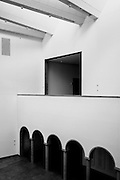 Architectural elements of the Blanton Museum of Art in Austin, Texas