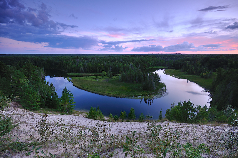 The Au Sable River at Dusk