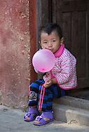 Girl with balloon, Kathmandu.