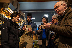 Pictured: Mairi Gougeon, Rory Mellis,  Jane Stewart (Chair of Fine Cheesemakers Scotland,  Jill and Callum Clark (Conmage Highland Dairy, Tain)<br /> <br /> Rural Affairs Minister Mairi Gougeon, MSP,  announced funding to promote locally sourced food and drink on a visit to an Edinburgh cheesemonger today.<br /> <br /> A total of 21 projects will share £95,550 from the Connect Local Regional Food Fund.<br /> <br /> Ms Gougeon met producers from Fine Cheesemakers of Scotland at I.J. Mellis Cheesemonger in Edinburgh. The group has been awarded funding to develop marketing materials and promote cheese as a pairing to whisky.<br /> <br /> Ger Harley | EEm 20 February 2020