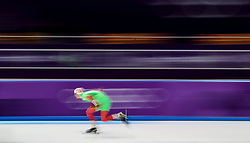 Ignat Golovatsiuk of Belarus in the Men's 1000m Speed Skating at the Gangneung Oval during day fourteen of the PyeongChang 2018 Winter Olympic Games in South Korea.