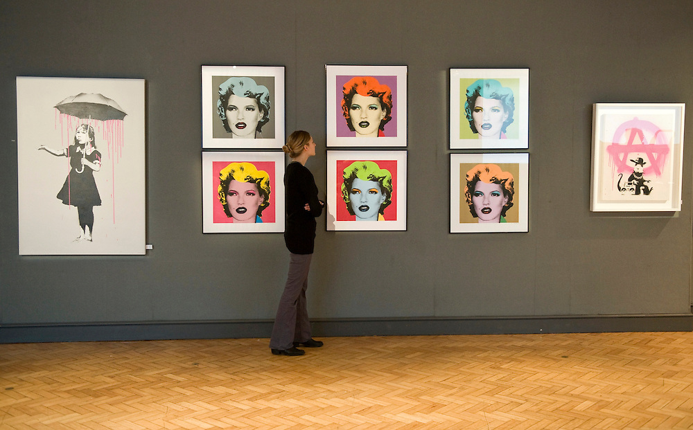 London 21 Feb - On Tuesday 24 February six Kate Moss prints by Banksy, estimated to make £100,000 to £150,000, will be  included in Bonhams Urban Art sale. Bonhams, 101 New Bond Street, ...***Standard Licence  Fee's Apply To All Image Use***.Marco Secchi /Xianpix. tel +44 (0) 845 050 6211. e-mail ms@msecchi.com or sales@xianpix.com.www.marcosecchi.com