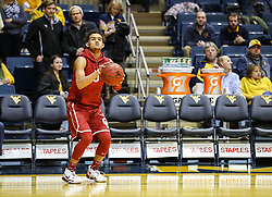 Jan 6, 2018; Morgantown, WV, USA; Oklahoma Sooners guard Trae Young (11) warms up before their game against the West Virginia Mountaineers at WVU Coliseum. Mandatory Credit: Ben Queen-USA TODAY Sports