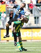 18-05-2008 Voetbal:ADO DEN HAAG:RKC Waalwijk:Waalwijk<br /> Richard Knopper en Patrick van Diemen in een heftig luchtduel<br /> Foto: Geert van Erven