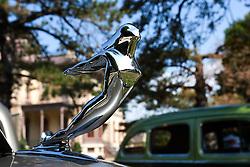 7 August 2010: 1936 Cadillac 4 door sedan. Antique Car show, David Davis Mansion, Bloomington Illinois