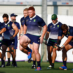 SHIZUOKA, JAPAN - SEPTEMBER 30: Steven Kitshoff during the South African national rugby team training session at Nexta Training Field on September 30, 2019 in Shizuoka, Japan. (Photo by Steve Haag/Gallo Images)