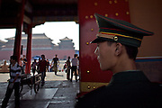Gugong (Forbidden City, Imperial Palace). Policeman watching.