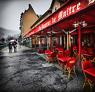 La Taverne de Maitre Kanter along the Thiou Canal in Annecy, France. March, 2013