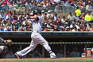 Joe Mauer #7 of the Minnesota Twins bats against the Seattle Mariners on June 2, 2013 at Target Field in Minneapolis, Minnesota.  The Twins defeated the Mariners 10 to 0.  Photo: Ben Krause