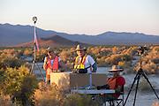 De tijdwaarneming bij de tweede racedag van het WHPSC In de buurt van Battle Mountain, Nevada, strijden van 10 tot en met 15 september 2012 verschillende teams om het wereldrecord fietsen tijdens de World Human Powered Speed Challenge. Het huidige record is 133 km/h.<br /> <br /> The timing area of the WHPSC. Near Battle Mountain, Nevada, several teams are trying to set a new world record cycling at the World Human Powered Speed Challenge from Sept. 10th till Sept. 15th. The current record is 133 km/h.
