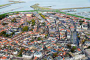 Nederland, Zeeland, Zeeuws-Vlaanderen, 19-10-2014; centrum Terneuzen.<br /> Downtown Terneuzen.<br /> luchtfoto (toeslag op standard tarieven);<br /> aerial photo (additional fee required);<br /> copyright foto/photo Siebe Swart