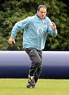 © Andrew Fosker / Seconds Left Images 2010 - England Manager Martin Johnson sprints  -  England Rugby Training - Pennyhill Park Hotel - 02/11/10 - Bagshot - UK - All Rights Reserved