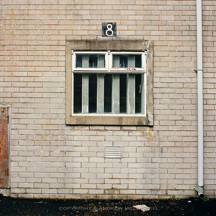 Cell 8 of the Maze Prison Hospital in which IRA member Bobby Sands died after 66 days on Hunger Strike. Pictured on Tuesday, May 16, 2006. HM Maze Prison, also known as Long Kesh and the H-Blocks, held some of the most dangerous men in Europe during its 30 year operation. The prison closed in September 2000 after 428 prisoners had been released under the Good Friday Agreement. There are now plans to turn the abandoned site into a national football stadium.