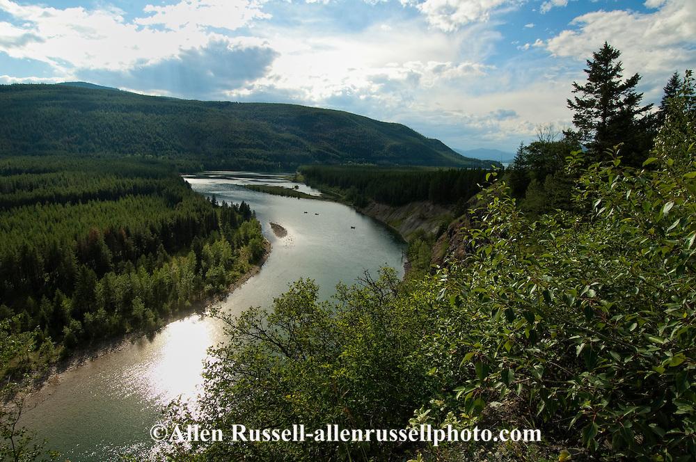 Rafting, South Fork Flathead River below Hungry Horse Reservoir, Bob Marshall Wilderness, Montana