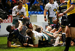 Sale Sharks players react after Northampton Saints score a late try - Mandatory by-line: Matt McNulty/JMP - 03/03/2017 - RUGBY - AJ Bell Stadium - Sale, England - Sale Sharks v Northampton Saints - Aviva Premiership