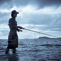 Fishing at Kaneohe Sandbar, Crossing the sandbar to Kipapa Island