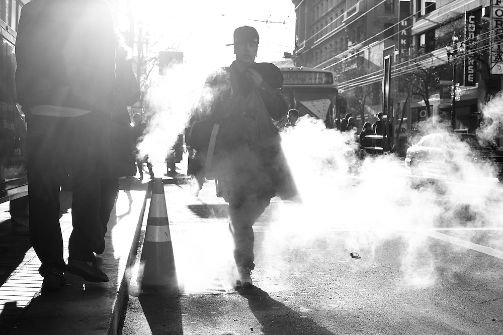 Steam man, San Francisco