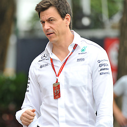 Toto Wolff, Executive director of Mercedes AMG Petronas F1 Team.<br /> Day 3 of the 2017 Formula 1 Singapore airlines, Singapore Grand Prix, held at The Marina Bay street circuit, Singapore on the 16th September 2017.<br /> Wayne Neal | SportPix.org.uk