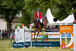 MEYER Tobias (GER), Corny 8<br /> Redefin - Pferdefestival 2019<br /> Großer Preis der Deutschen Kreditbank AG<br /> BEMER Riders Tour - Wertungsprüfung<br /> Große Tour – Finale: Int. Weltranglisten-Springprüfung (1,60m) mit zwei Umläufen<br /> 26. Mai 201<br /> © www.sportfotos-lafrentz.de/Stefan Lafrentz