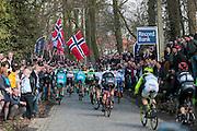 BELGIUM  / BELGIE / BELGIQUE / HARELBEKE / CYCLING / WIELRENNEN / CYCLISME / KLASSIEKER / 59TH RECORD BANK E3 HARELBEKE / UCI WORLD TOUR / UCI WORLDTOUR /  HARELBEKE TO HARELBEKE 206 KM / TAAIENBERG / DANISH FLAGS / DEENSE VLAGGEN /