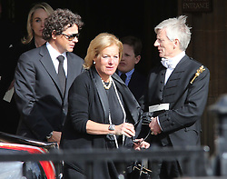 Carol Thatcher  leaving  the service held for her mother Baroness Thatcher at the Chapel of St Mary Undercroft  in the Palace of Westminster in London,  Tuesday 16th April .  Photo by: Stephen Lock / i-Images