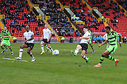 Forest Green Rovers Keanu Marsh-Brown(7) crosses the ball during the Vanarama National League match between Gateshead and Forest Green Rovers at Gateshead International Stadium, Gateshead, United Kingdom on 18 February 2017. Photo by Shane Healey.
