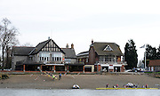 Chiswick, GREAT BRITAIN, General views on the River Thames,  Boathouses, Mortlake and Anglian and the Quintin BC. Sun  24/02/2008  2008. [Mandatory Credit, Peter Spurrier/Intersport-images] Rowing Course: River Thames, Championship course, Putney to Mortlake 4.25 Miles,