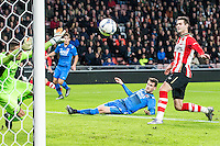 EINDHOVEN - PSV - AZ , Voetbal , Seizoen 2015/2016 , Eredivisie , Philips stadion , 29-11-2015 , PSV speler Gaston Pereiro (r) scoort een goal die uiteindelijk word afgekeurd