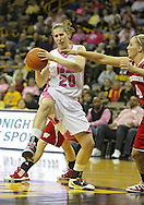 February 16 2011: Iowa Hawkeyes forward Kelly Krei (20) pulls in a rebound during the first half of an NCAA women's college basketball game at Carver-Hawkeye Arena in Iowa City, Iowa on February 16, 2011. Iowa defeated Wisconsin 59-44.