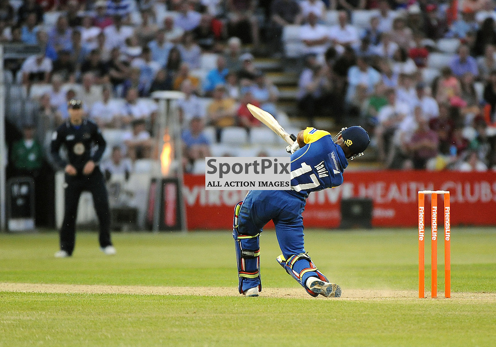 Warwickshire Bear's Ateeq Javid during the Northant's Steelback's V Warwickshire Bear's Friends Life T20 match at The County Ground on June 5th 2013<br /> WAYNE NEAL | SPORTPIX.ORG.UK