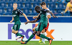 15.09.2016, Red Bull Arena, Salzburg, AUT, UEFA EL, FC Red Bull Salzburg vs FC Krasnodar, Gruppe I, 1. Runde, im Bild Kouassi Eboue (FC Krasnodar), Stefan Lainer (FC Red Bull Salzburg) // during the UEFA Europa League, group I, 1st round match betweenFC Red Bull Salzburg and FC Krasnodar at the Red Bull Arena in Salzburg, Austria on 2016/09/15. EXPA Pictures © 2016, PhotoCredit: EXPA/ JFK